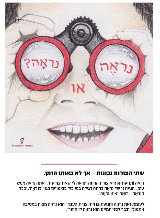כרזות מהאתר של האקדמיה ללשון